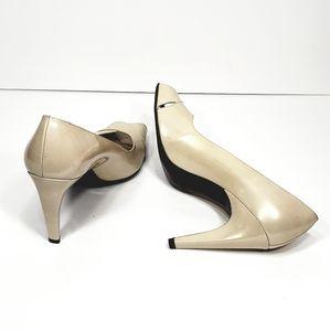 STUART WEITZMAN peep toe crisscross heels pump